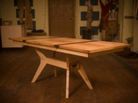 Ash and Walnut Extending Table