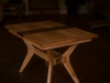 Extending table in solid Ash and Walnut