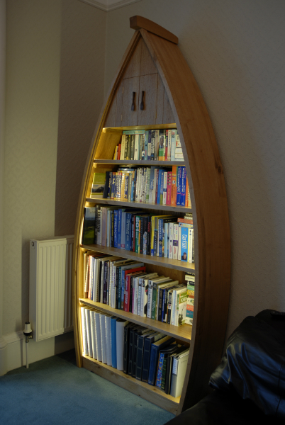 Boat Shaped Bookcase Organic Geometry Bespoke Furniture Makers