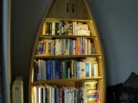 Boat-shaped Bookcase