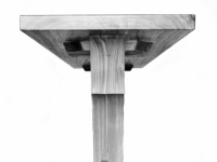 """Solid walnut console table """"Breaking Wave"""""""
