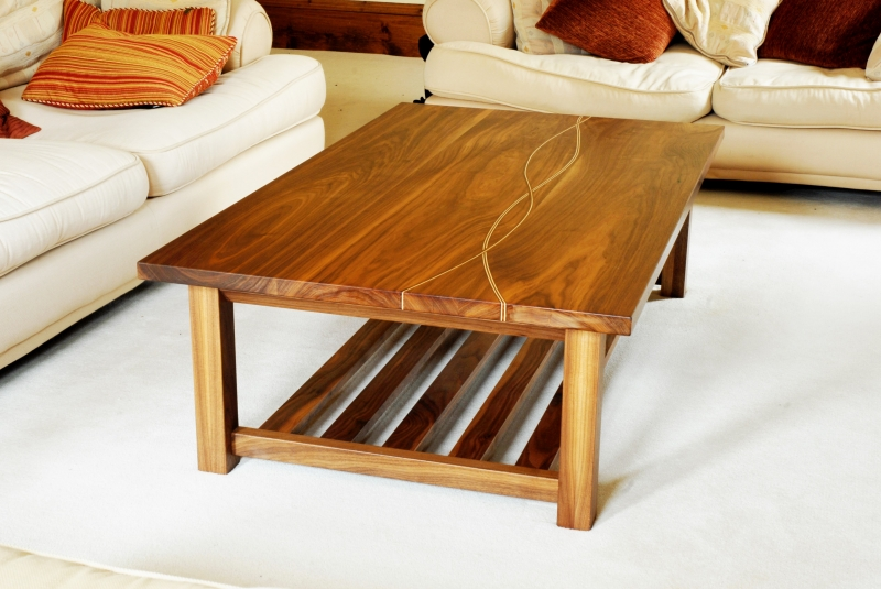 Hand Coffee Table Part - 24: A Bespoke Coffee Table Hand Made In Scotland From Solid Walnut And Scottish  Sycamore.