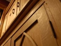 Gothic Oak Bedroom Cabinet