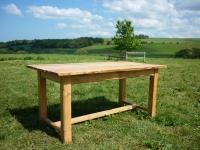 Outdoor Natural Edge Oak Table
