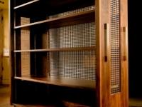 Walnut and Aluminium Bookcase